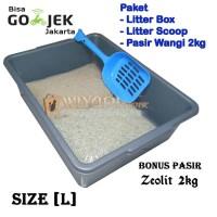 Paket Tempat Unik Murah Kotoran Kucing (Litter Boxl, Scoop Pasir,