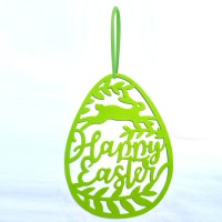 Hanging Ornament Easter Eggs Bunny Pendant Egg Shape Gifts Wall Door