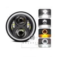 Great Daymaker 7 Inch LED Headlamp 60W Full Halo Motor Custo