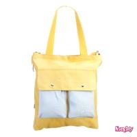 Naughty Accessories Big Canvas Tote Bag - BBG190900904 YELLOW