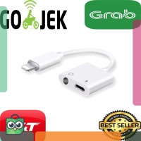Dual Connector Iphone 7 8 X lightning dan Jack 3.5mm with bluetooth