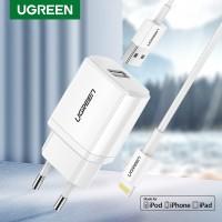Ready Stock Ugreen 5v2.1a Kabel USB Charger MFI untuk iPhone x / 8
