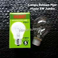 Lampu Bohlam Pijar 5W Hyper Jumbo Merk Hemat