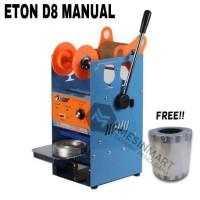 Cup Sealer Mesin Press Gelas ET-D8 + Gratis Roll Plastik