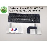 Keyboard Asus A53 G51 G53 G60 G72 G73 K52 K53, K73 N50 N53 Black Frame