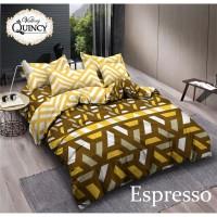 Vallery - Sprei King T.30 Jacguard / Aloe Vera motif Espresso