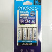 Panasonic Basic Charger + 4pcs Battery Eneloop AA 2000mAh