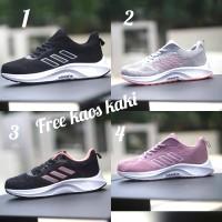 Adidas Zoom size 36 - 40 sepatu wanita hitam sekolah olahraga abu pink