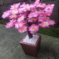 sakura plastik- sakura artificial- sakura bonsai -bunga artificial