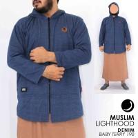 Baju Koko Pakistan Jaket Muslim LightHood Jumbo M - XXL Brand Rosal