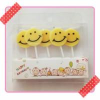 lilin ulang tahun karakter emoji emoticon smile