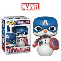 Original Funko POP! Marvel Holiday - Cap Snow Man (Captain America)