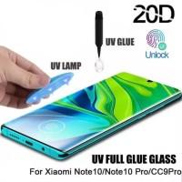 Nano Liquid UV Light Curved Glass xiaomi mi note 10 pro Full antigores