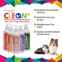 sampo kucing wangi pembersih pengkilat bulu fresh clean