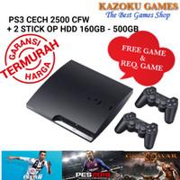 PS3 PS 3 SLIM SONY PLAYSTATION SERI CECH 2500 160GB - 500GB + 2STIK OP