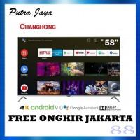 Changhong 58 Inch LED 4K UHD Android 9.0 Smart TV - U58H7A