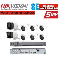 Paket Cctv Hikvision 8 Camera 5 MP Turbo HD