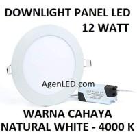 Lampu Downlight LED Panel 12W TIPIS 12 W Watt 12Watt BULAT INBOW 4000K