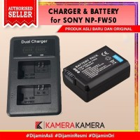 BATRE/BATTERY NP-FW50 FOR SONY ALPHA A5100 A6000 A6100 A6400 + Charger