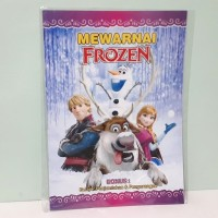 Buku Mewarnai Anak Frozen - Buku Aktifitas Anak TK