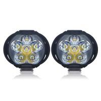 CNSUNNYLIGHT Lampu Tembak Motor LED High Beam 1000 Lumens 2 PCS
