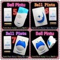 Bell Muxindo/Bell Wireless Satu Knop AC 220V / Bell Pintu - Putih