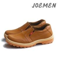 Sepatu Joemen J 40 Original Import pria kerja kantor termurah - Tan, 39