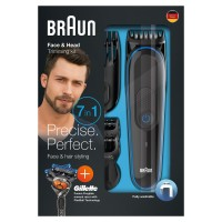 Pencukur Jenggot Braun Multi Grooming 7in1 MGK3045 Gillette Trimmer