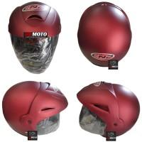 Helm CNP Red Maroon Doft CNP06MAROONDOFT / Helm SNI / Helm Half Face