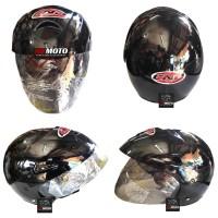 Helm CNP Solid Black CNP01SOLIDBLACK / Helm SNI / Helm Half Face