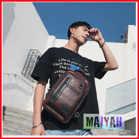 Tas selempang pria slempang cowok Bahu Korea Lether Shoulder bag sling