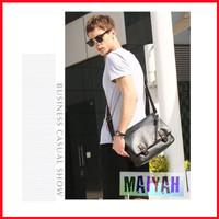 as Selempang Pria Ranger Leather Messenger Bag / Tas Kulit PU Import