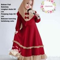 Gamis Anak Baju Maxy Muslim (4- 5 tahun) Baju Anak Perempuan - 4-5