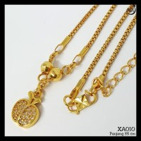 Xa10 Kalung Koye Anak Zirconia Aksesoris Perhiasan Xuping Lapis Emas
