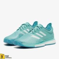 TERMURAH Sepatu Tennis Adidas SoleCourt Boost Blue/White Original