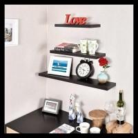 Rak Dinding Shelf Floating (1Set) Decosheet - Putih