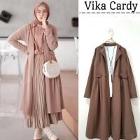 🌺 Baju Cardigan Wanita | Vika Long Cardy | Outer Dress Muslim