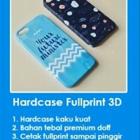 Custom Case Hp Hardcase Fullprint 3D Semua Merk Xiaomi Asus Oppo Viv