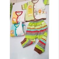 Setelan Baju Bayi Newborn Tgn Pndek Cln Panjang Velvet Junior Ladanz