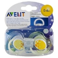 Philips Avent Terbaru Ortho Soother 0-6M Night Time / Empeng /
