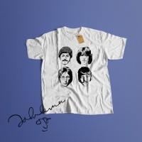 K/120 Kaos Band The Beatles John Lennon ringo star mccartney T-Shirt