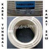 Kabel Listrik Tunggal 2x1.5 Kawat / Nym Panjang 50 Yard