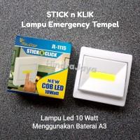 Lampu Led Emergency Tempel / Stick n Klik 10W Super Terang