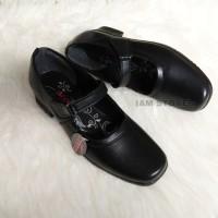 pantofel sekolah wanita sepatu sekolah sepatu paskibra wanita - Hitam, 39