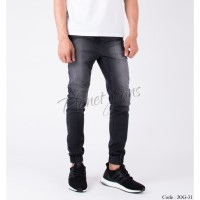 Celana Jogger Pant Bahan Jeans Model Chino Joger Cowok Grey Wash JOG31