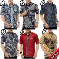 Kemeja hem batik pria murah - seragam - suplier batik harga grosir