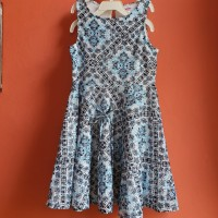 dress anak justice - blue lace vintage