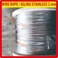 Kawat seling baja / wire rope 2 mm mili stainless ss