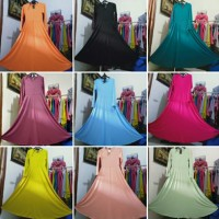 CUCI GUDANG SALE!!! - GAMIS POLOS JERSEY ALL SZ - Lemon, Big Sz XXL