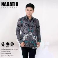 Kemeja Pria Lengan Panjang Batik Seno Abu-abu Bukan Alisan